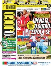 capa Jornal O Jogo de 11 agosto 2019