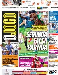 capa Jornal O Jogo de 12 agosto 2019