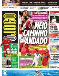 capa Jornal O Jogo de 23 agosto 2019