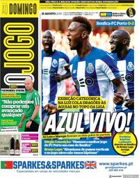 capa Jornal O Jogo de 25 agosto 2019