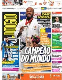 capa Jornal O Jogo de 31 agosto 2019