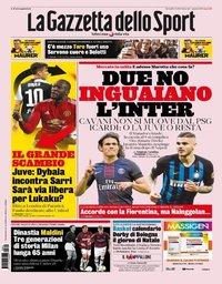 capa La Gazzeta dello Sport de 1 agosto 2019