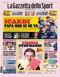 capa La Gazzeta dello Sport de 3 agosto 2019