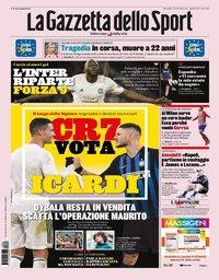 capa La Gazzeta dello Sport de 6 agosto 2019