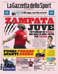 capa La Gazzeta dello Sport de 7 agosto 2019