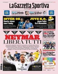 capa La Gazzeta dello Sport de 11 agosto 2019
