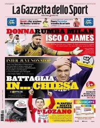 capa La Gazzeta dello Sport de 13 agosto 2019