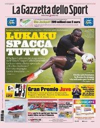 capa La Gazzeta dello Sport de 14 agosto 2019