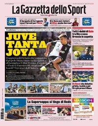 capa La Gazzeta dello Sport de 15 agosto 2019