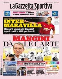capa La Gazzeta dello Sport de 18 agosto 2019