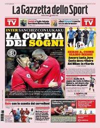 capa La Gazzeta dello Sport de 19 agosto 2019