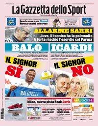 capa La Gazzeta dello Sport de 20 agosto 2019