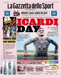capa La Gazzeta dello Sport de 22 agosto 2019