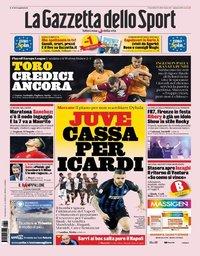 capa La Gazzeta dello Sport de 23 agosto 2019