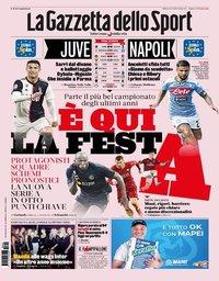 capa La Gazzeta dello Sport de 24 agosto 2019