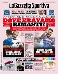 capa La Gazzeta dello Sport de 25 agosto 2019