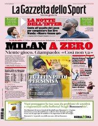 capa La Gazzeta dello Sport de 26 agosto 2019