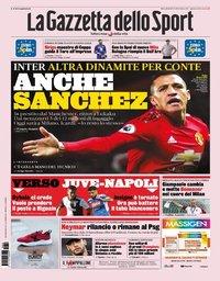 capa La Gazzeta dello Sport de 28 agosto 2019