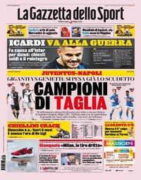 capa La Gazzeta dello Sport de 31 agosto 2019