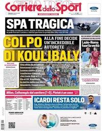 capa Corriere dello Sport de 1 setembro 2019