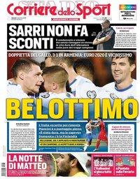 capa Corriere dello Sport de 6 setembro 2019