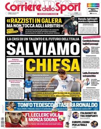 capa Corriere dello Sport de 7 setembro 2019