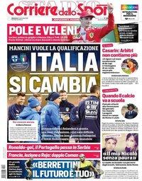 capa Corriere dello Sport de 8 setembro 2019