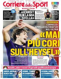 capa Corriere dello Sport de 11 setembro 2019