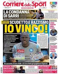 capa Corriere dello Sport de 13 setembro 2019