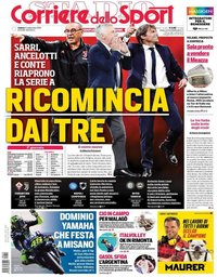 capa Corriere dello Sport de 14 setembro 2019