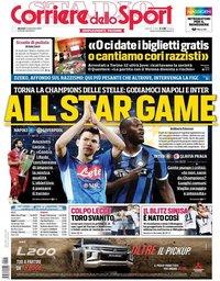 capa Corriere dello Sport de 17 setembro 2019