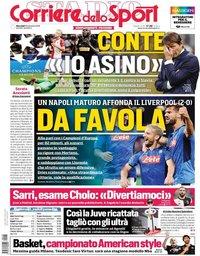 capa Corriere dello Sport de 18 setembro 2019