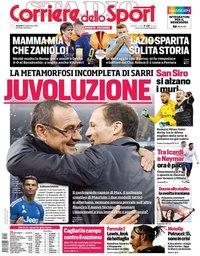 capa Corriere dello Sport de 20 setembro 2019