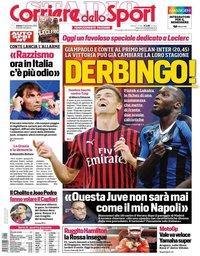 capa Corriere dello Sport de 21 setembro 2019