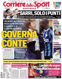capa Corriere dello Sport de 22 setembro 2019