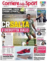 capa Corriere dello Sport de 24 setembro 2019