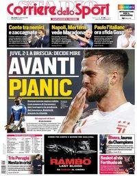 capa Corriere dello Sport de 25 setembro 2019