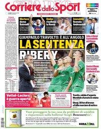 capa Corriere dello Sport de 30 setembro 2019