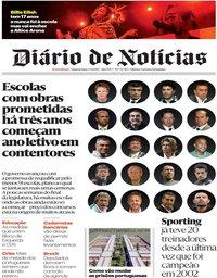 capa Diário de Notícias de 4 setembro 2019