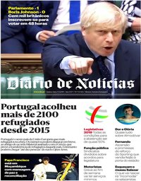 capa Diário de Notícias de 5 setembro 2019