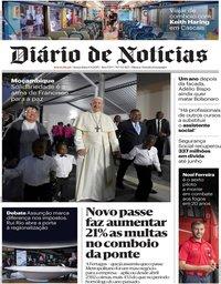 capa Diário de Notícias de 6 setembro 2019