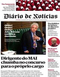 capa Diário de Notícias de 10 setembro 2019