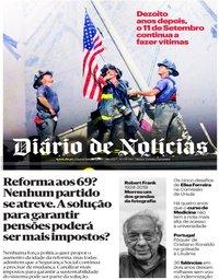 capa Diário de Notícias de 11 setembro 2019