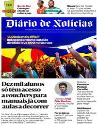 capa Diário de Notícias de 12 setembro 2019