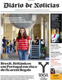 capa Diário de Notícias de 14 setembro 2019