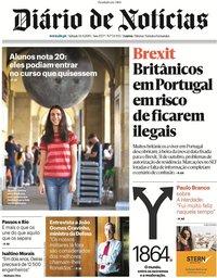 capa Diário de Notícias de 15 setembro 2019