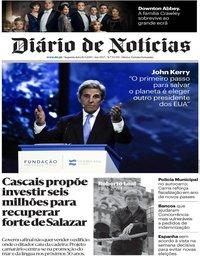 capa Diário de Notícias de 16 setembro 2019