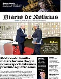 capa Diário de Notícias de 17 setembro 2019