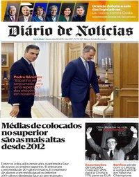capa Diário de Notícias de 18 setembro 2019