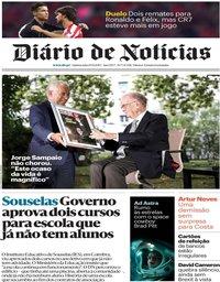 capa Diário de Notícias de 19 setembro 2019